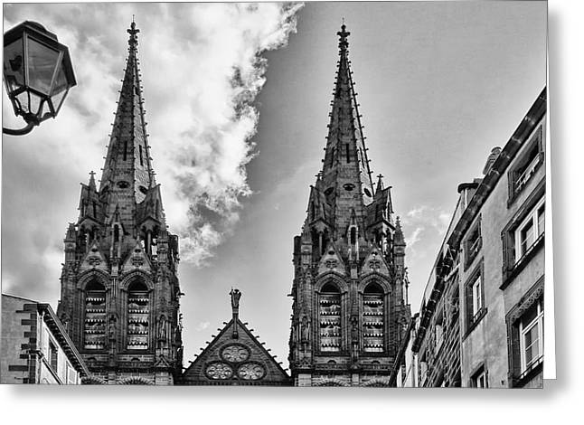 Victoire Greeting Cards - Cathedrale Notre-Dame-de-lAssomption de Clermont-Ferrand Greeting Card by Nomad Art And  Design