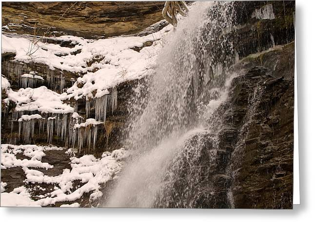 Waterfall Image Greeting Cards - Cathedrals Falls Ice And Motion Greeting Card by Chris Flees