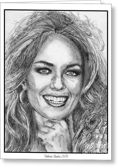 Fame Drawings Greeting Cards - Catherine Bach in 1979 Greeting Card by J McCombie