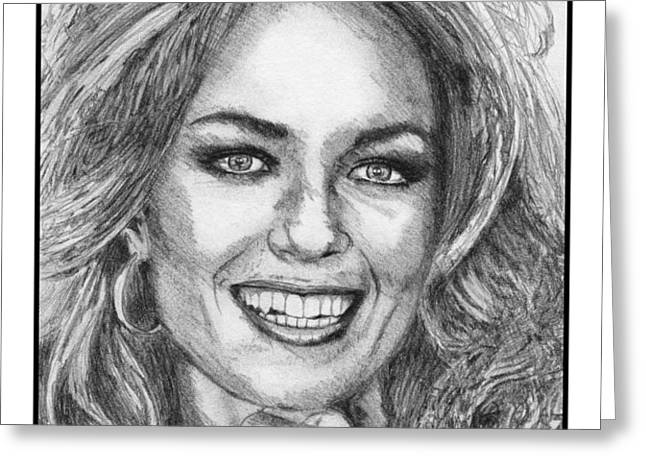 Catherine Bach in 1979 Greeting Card by J McCombie