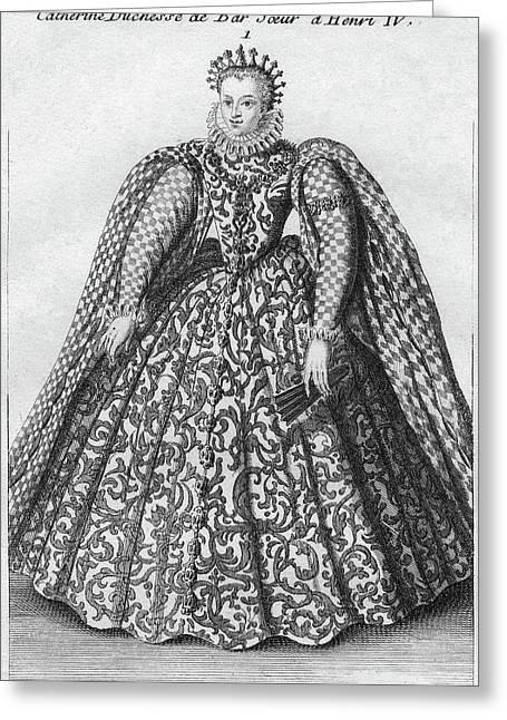 Catherine De Bourbon (1559-1604) Greeting Card by Granger