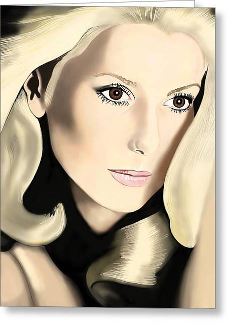 Andrew Harrison Greeting Cards - Catherine Deneuve Greeting Card by Andrew Harrison