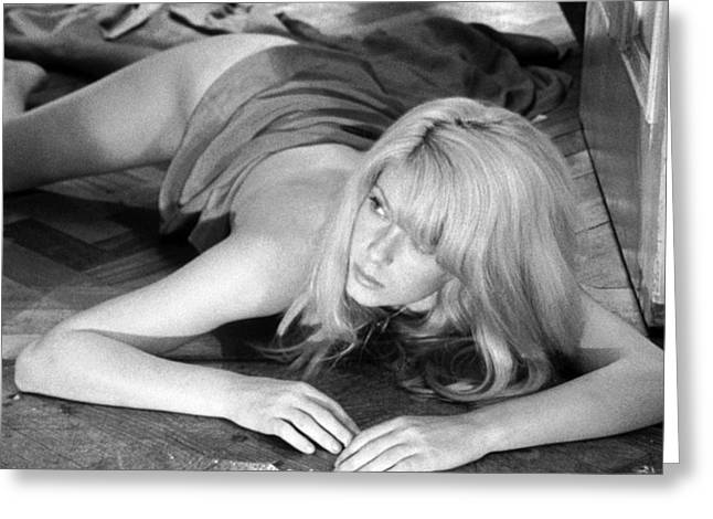 1960 Greeting Cards - Catherine Deneuve in Repulsion  Greeting Card by Silver Screen