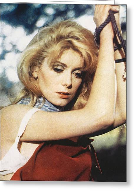 Catherine Greeting Cards - Catherine Deneuve Greeting Card by Silver Screen