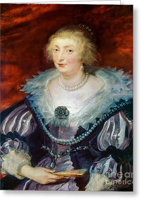 Noble Greeting Cards - Catherine Manners Duchess of Buckingham Greeting Card by Peter Paul Rubens