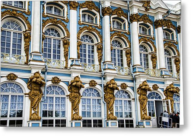 Catherine Palace Facade - St Petersburg  Russia Greeting Card by Jon Berghoff