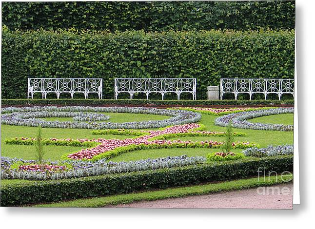 Barock Greeting Cards - Catherine Park Castle Greeting Card by Art Photography