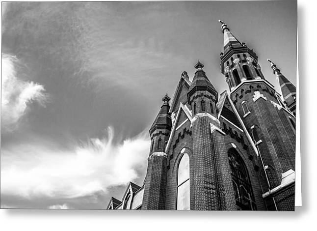 Old Christ Church Greeting Cards - Catholic Church in Downtown Birmingham Greeting Card by Shelby  Young