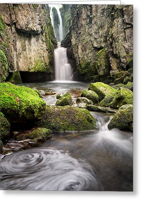River Posters Greeting Cards - Catrigg Force Falls Greeting Card by Chris Frost