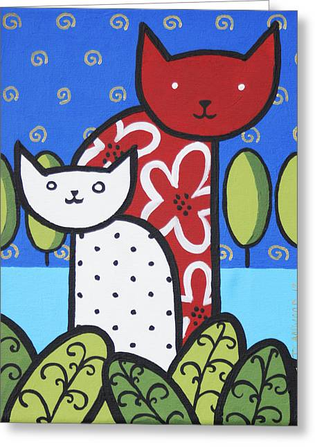 Cats 1 Greeting Card by Trudie Canwood