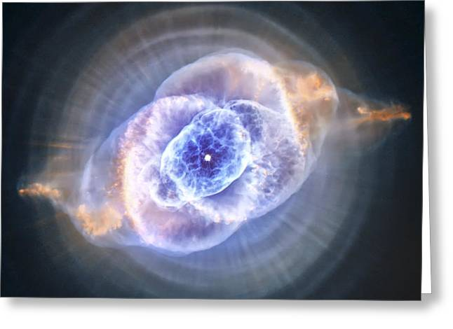 Cat's Eye Nebula Greeting Card by Adam Romanowicz