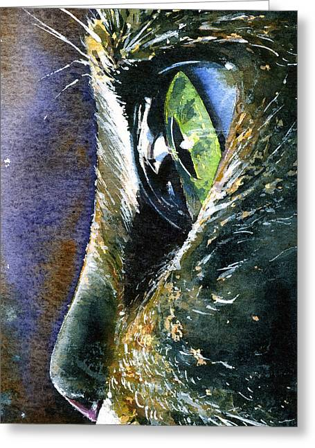 Cats Eyes 5 Greeting Card by John D Benson