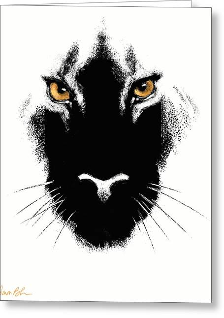Cat's Eyes Greeting Card by Aaron Blaise