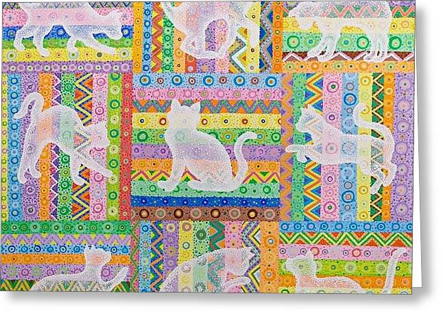 Oracular Greeting Cards - Cats Greeting Card by Grass Hopper