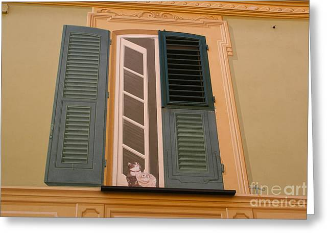Portofino Italy Art Greeting Cards - Cats of Portofino Greeting Card by Stephen McCabe