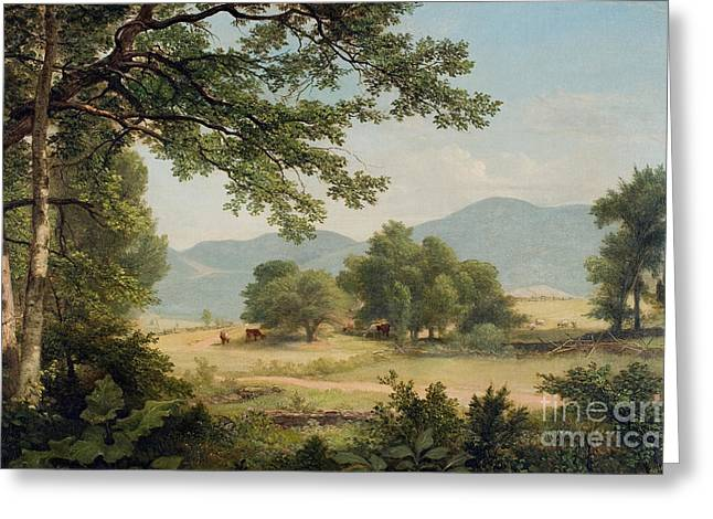 Mountain Greeting Cards - Catskill Meadows in Summer Greeting Card by Asher Brown Durand