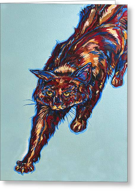 Kat Greeting Cards - Cattitude Greeting Card by Derrick Higgins