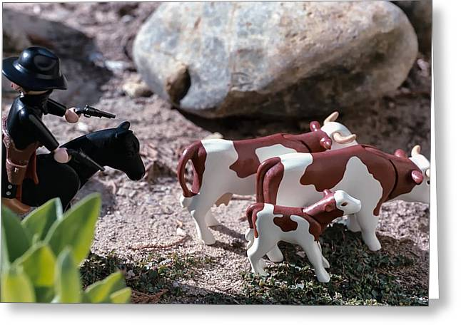 Child Toy Greeting Cards - Cattle Rustler Greeting Card by Caitlyn  Grasso