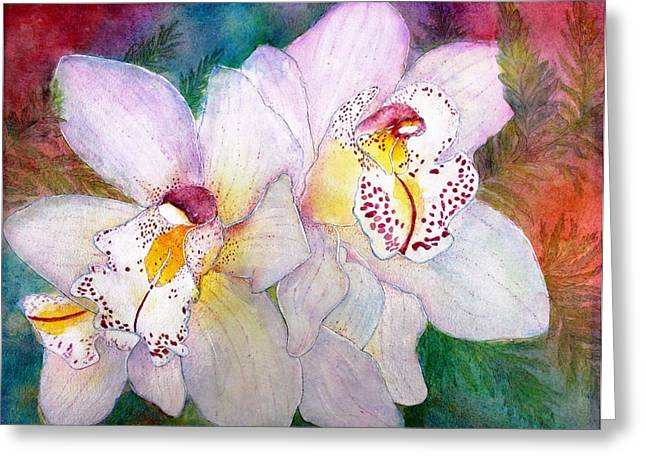 Cattleya Paintings Greeting Cards - Cattleya Greeting Card by Janet Immordino