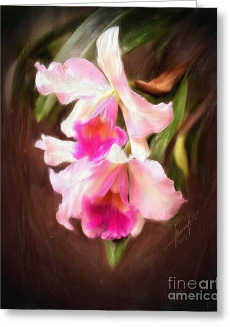 Cattleya Digital Art Greeting Cards - Cattleya Greeting Card by Marvin Nuto