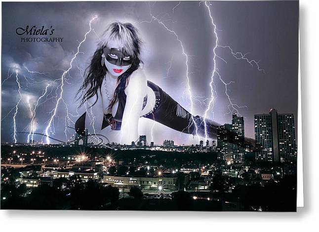 Catwoman Photographs Greeting Cards - Catwoman Greeting Card by Emile Steyn