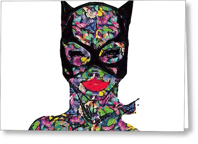 Catwoman's Dream Greeting Card by G Knight
