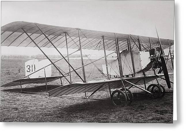 Bat Wings Greeting Cards - CAUDRON G2 BIPLANE c. 1912 Greeting Card by Daniel Hagerman