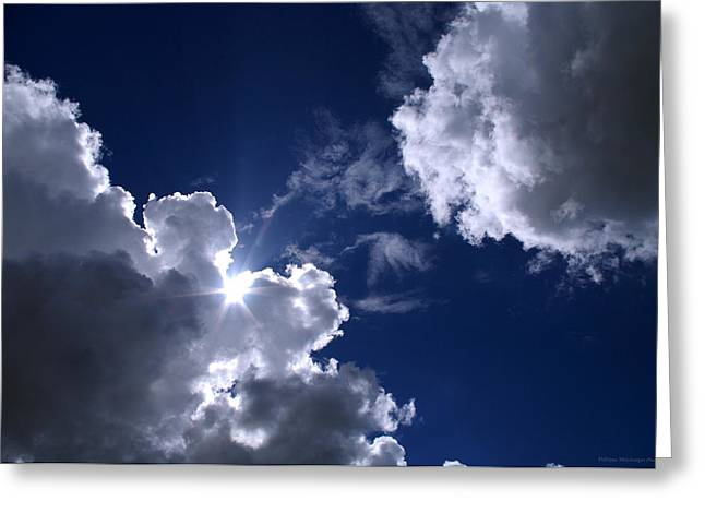 Himmel Greeting Cards - Caught by the clouds Greeting Card by Philippe Meisburger