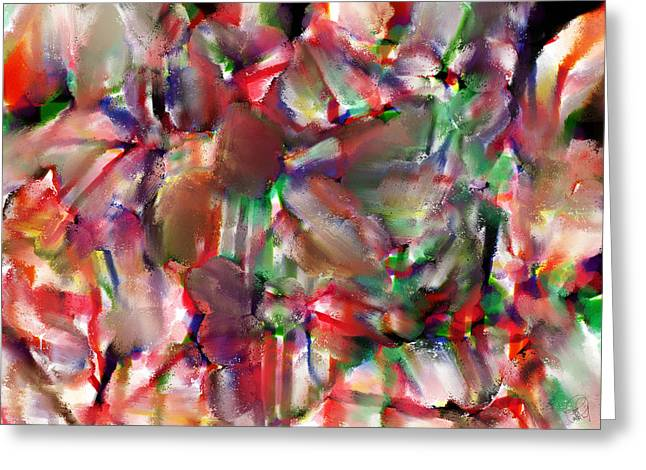Digital Fine Pastels Greeting Cards - Caught In The Crowd Water Color And Pastel Greeting Card by Sir Josef  Putsche Social Critic