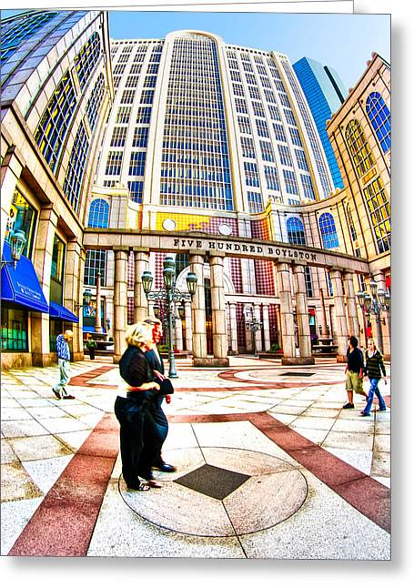 Boston Mass Greeting Cards - Caught In The Geometry Of Boylston Street Greeting Card by Mark Tisdale