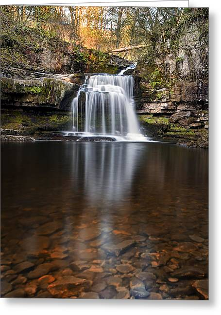 Burton Greeting Cards - Cauldron Falls West Burton Greeting Card by Chris Frost