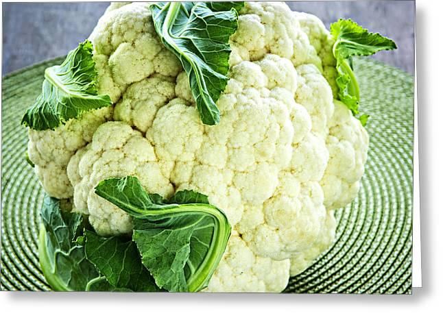 Cauliflower Greeting Card by Elena Elisseeva