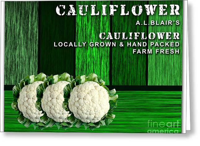 Cauliflower Farm Greeting Card by Marvin Blaine