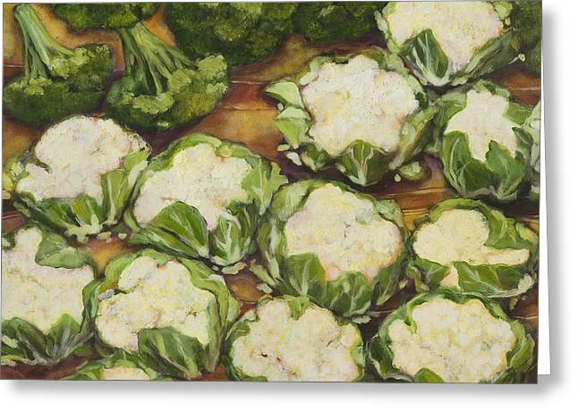 Cauliflower March Greeting Card by Jen Norton