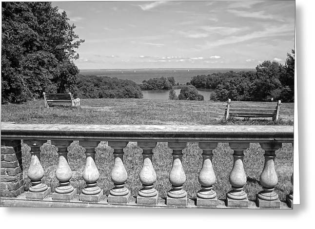 Park Benches Greeting Cards - Caumsett State Park Greeting Card by Frank Freni