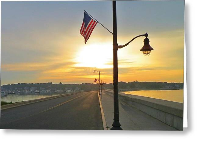 First-rate Greeting Cards - Causeway July 4th Greeting Card by Anne Sterling