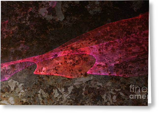Science Fiction Greeting Cards - Caustic lights on sheet metal. Greeting Card by Jorge Di Pietro