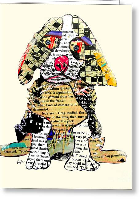 Whimsical Mixed Media Greeting Cards - Cavalier king charles Greeting Card by Bri Buckley