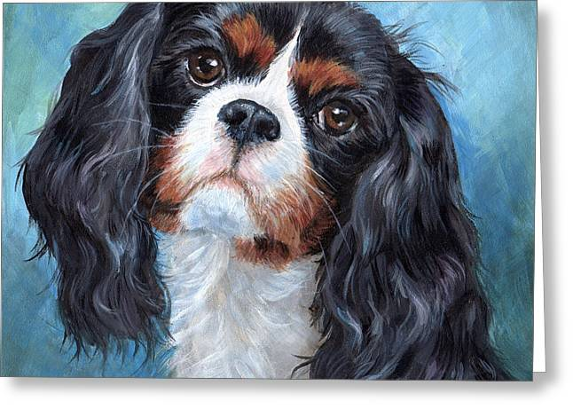 Cavalier King Charles Spaniel Greeting Card by Hope Lane