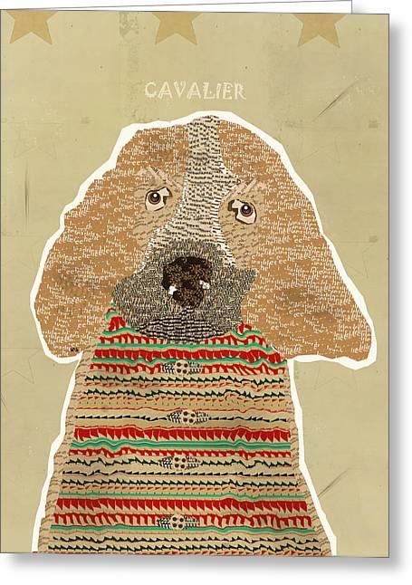 Spaniel Greeting Cards - Cavalier Spaniel Greeting Card by Bri Buckley