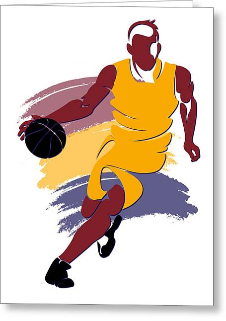 Cleveland Cavaliers Greeting Cards - Cavaliers Basketball Player1 Greeting Card by Joe Hamilton