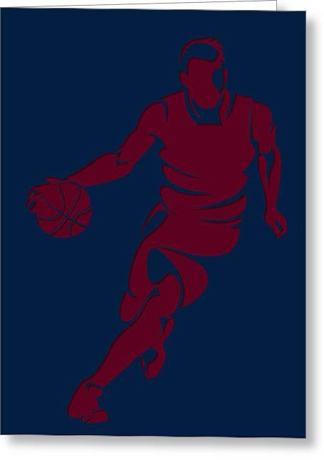 Cleveland Cavaliers Greeting Cards - Cavaliers Basketball Player2 Greeting Card by Joe Hamilton