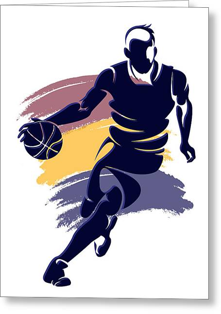 Cleveland Cavaliers Greeting Cards - Cavaliers Basketball Player3 Greeting Card by Joe Hamilton