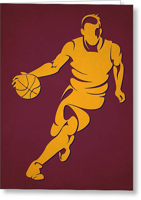 Cleveland Cavaliers Greeting Cards - Cavaliers Basketball Player4 Greeting Card by Joe Hamilton