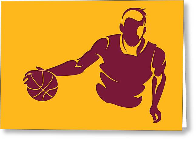 Cleveland Cavaliers Greeting Cards - Cavaliers Shadow Player1 Greeting Card by Joe Hamilton