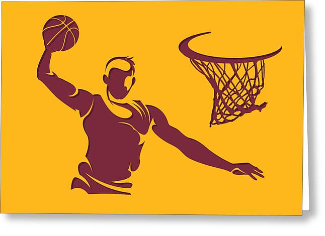 Cleveland Cavaliers Greeting Cards - Cavaliers Shadow Player2 Greeting Card by Joe Hamilton