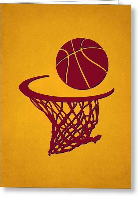 Cleveland Cavaliers Greeting Cards - Cavaliers Team Hoop2 Greeting Card by Joe Hamilton