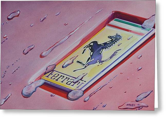 Droplet Paintings Greeting Cards - Cavallino Rampante Greeting Card by Marco Ippaso