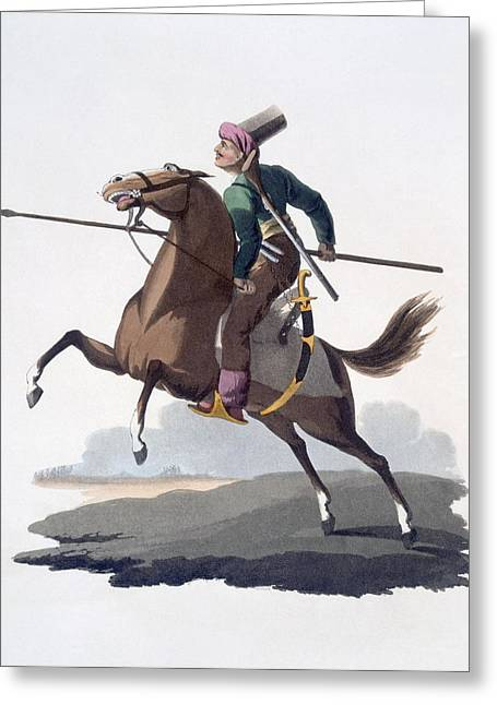 Mclean Greeting Cards - Cavalry Man, 1818 Greeting Card by English School