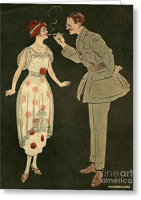 First Love Drawings Greeting Cards - CavanderÕs Army Club 1919 1910s Uk Greeting Card by The Advertising Archives